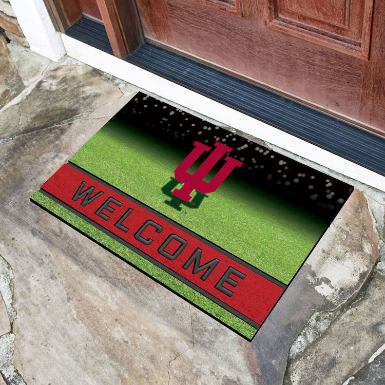 Indiana Hoosiers Recycled Crumb Rubber Door Mat