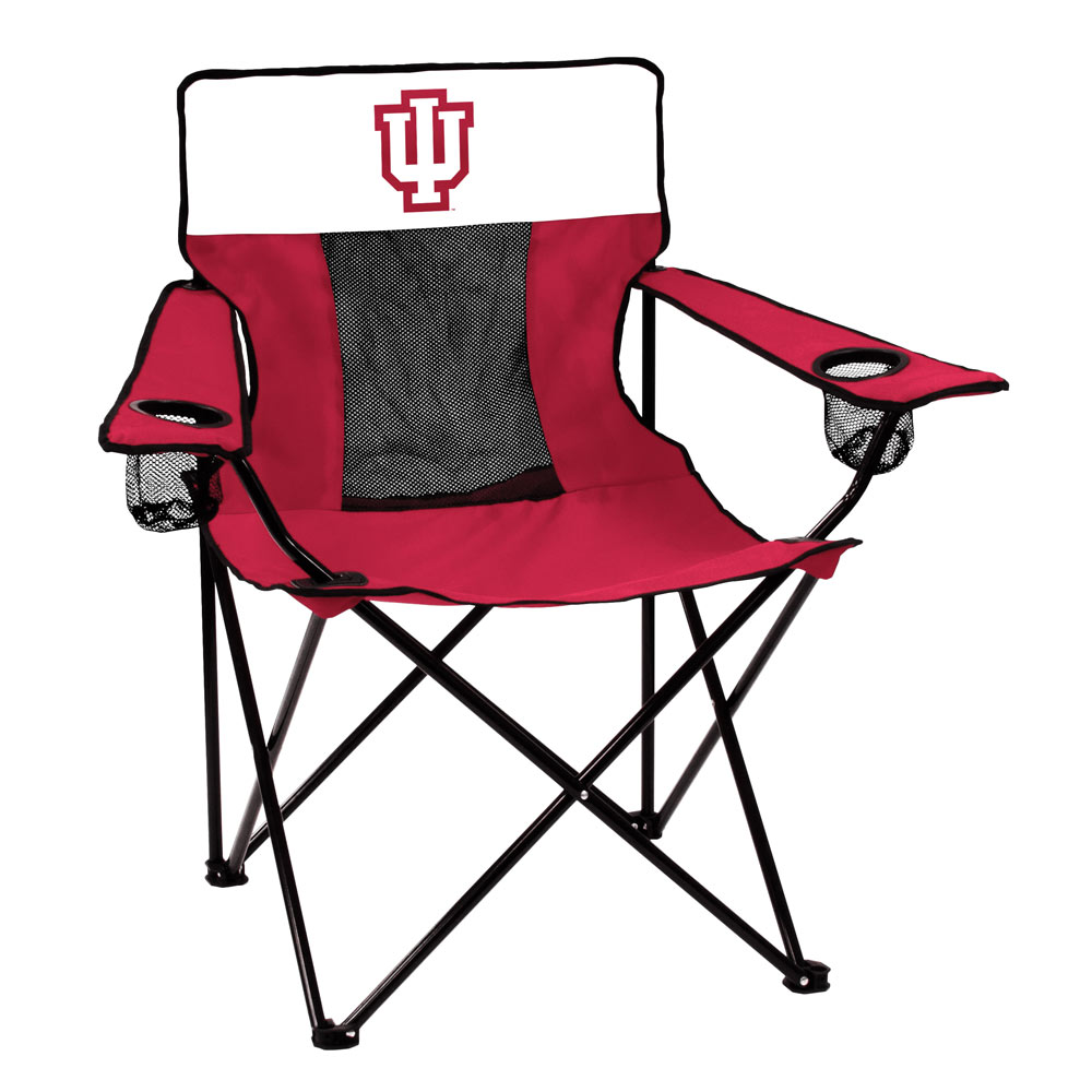 Indiana Hoosiers ELITE logo folding camp style chair