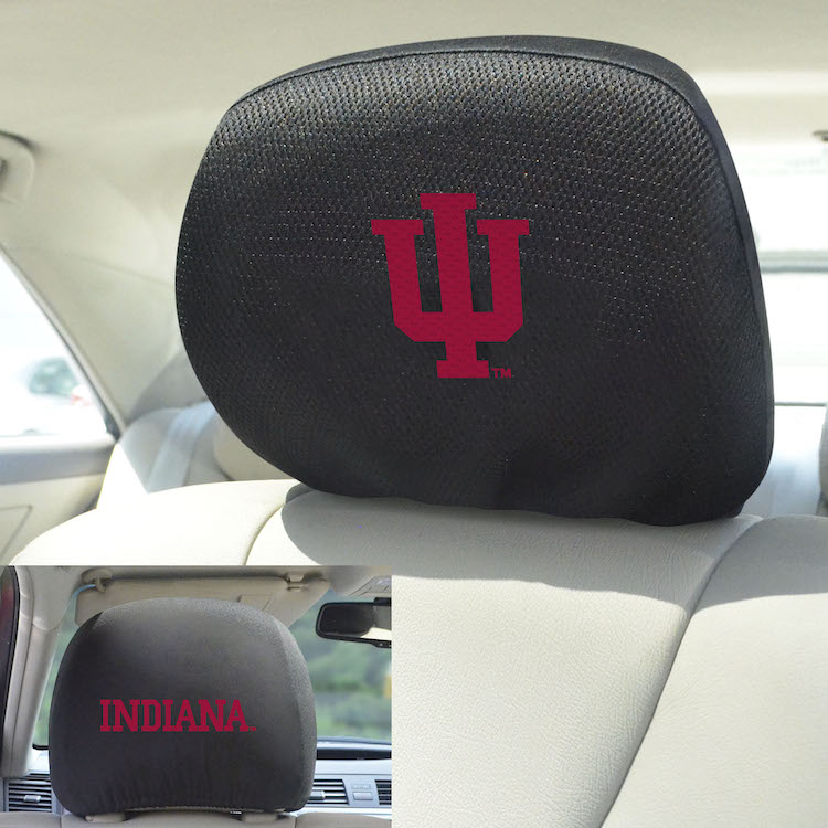Indiana Hoosiers Head Rest Covers