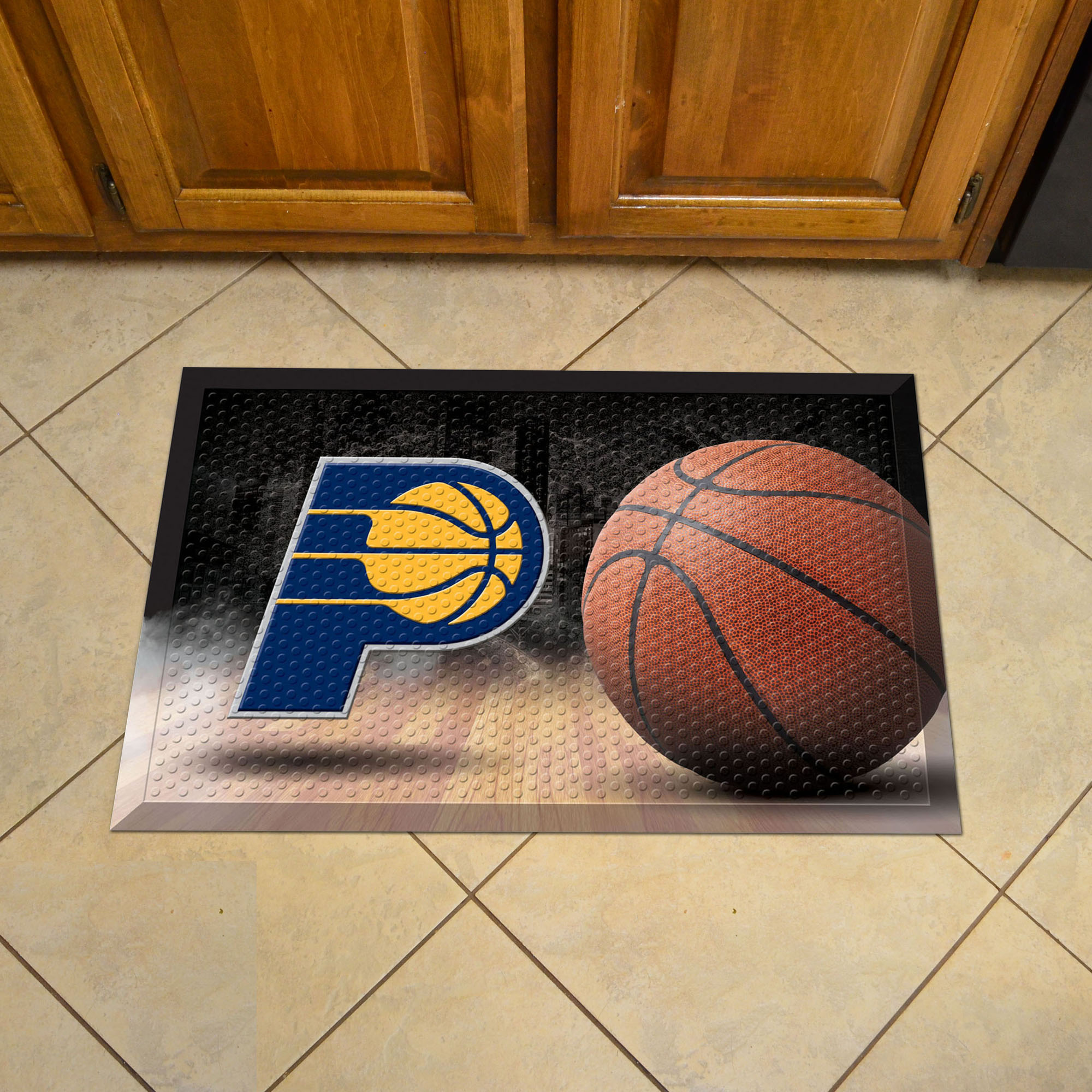 Indiana Pacers Ball Style SCRAPER Door Mat