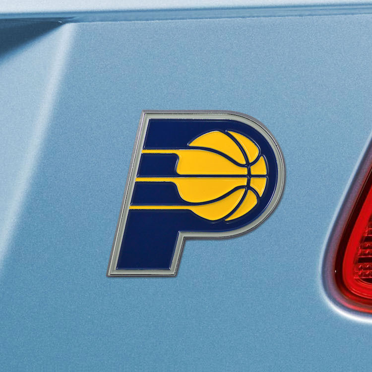 Indiana Pacers Color Metal Auto Emblem