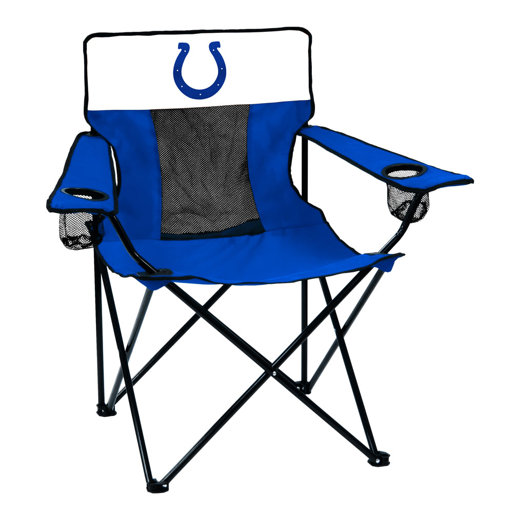 Indianapolis Colts ELITE logo folding camp style chair