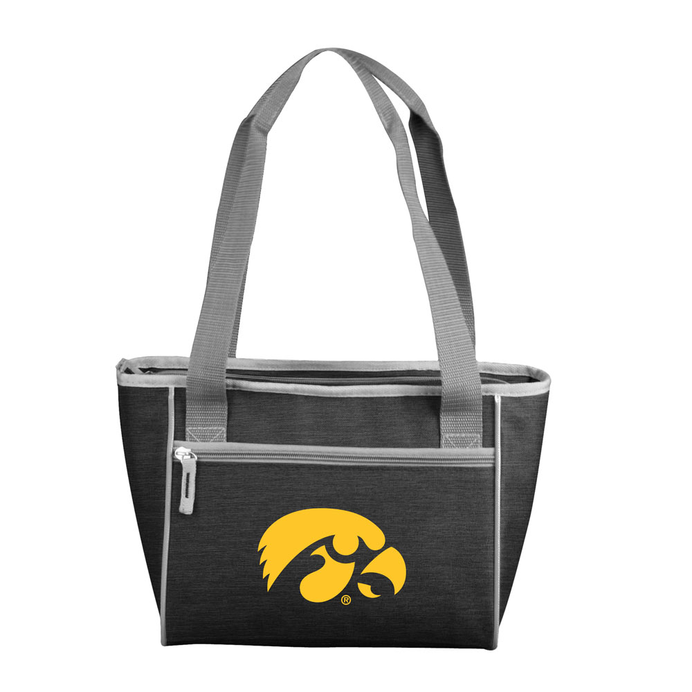 Iowa Hawkeyes Crosshatch 16 Can Cooler Tote