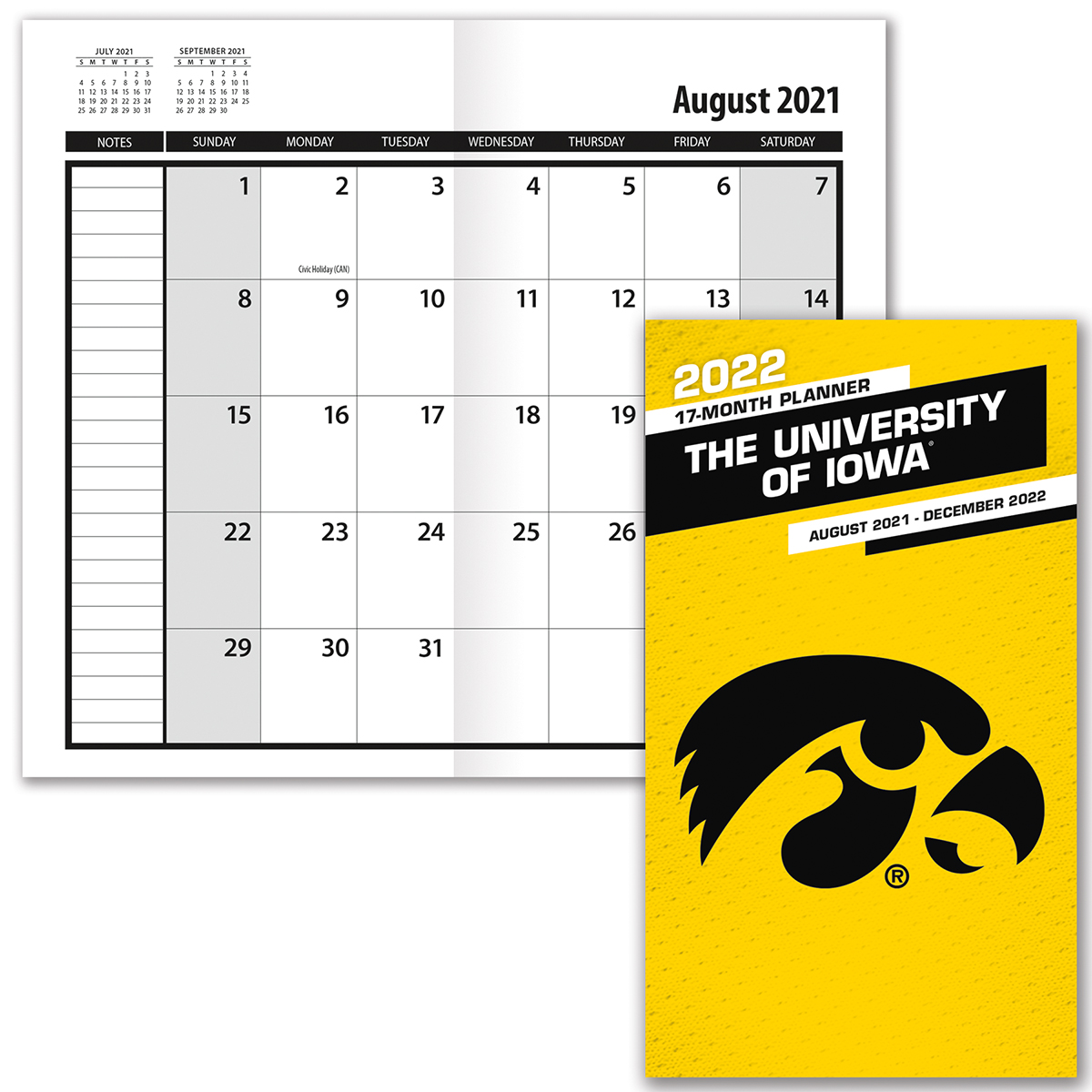 Iowa Hawkeyes 2019-20 Academic Planner