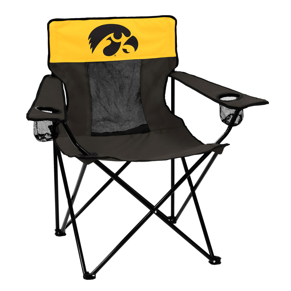Iowa Hawkeyes ELITE logo folding camp style chair