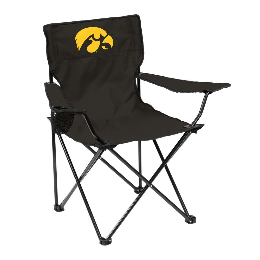 Iowa Hawkeyes QUAD style logo folding camp chair