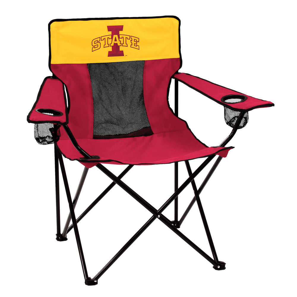 Iowa State Cyclones ELITE logo folding camp style chair