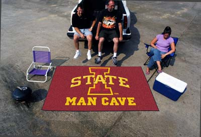 Iowa State Cyclones MAN CAVE TAILGATER 60 x 72 Rug