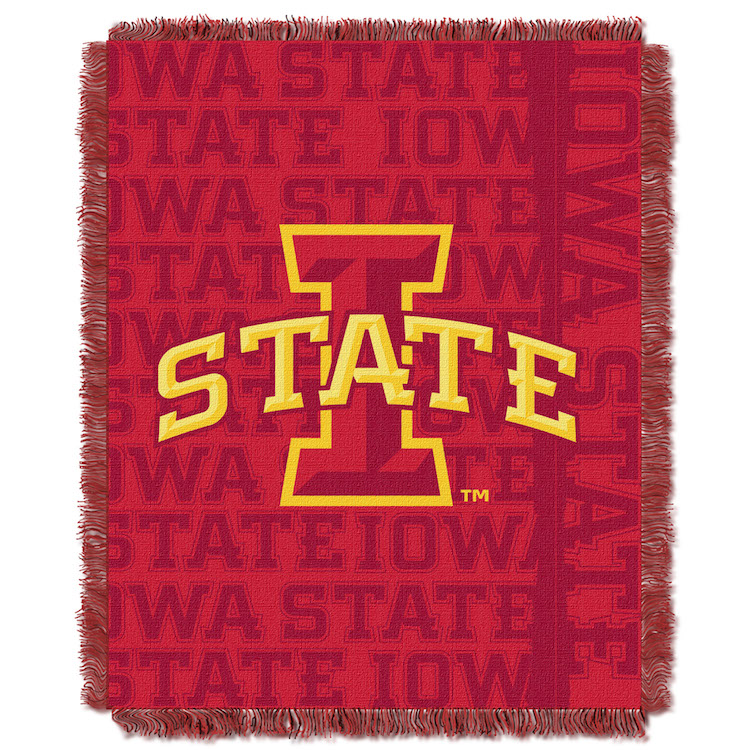 Iowa State Cyclones Double Play Tapestry Blanket 48 x 60