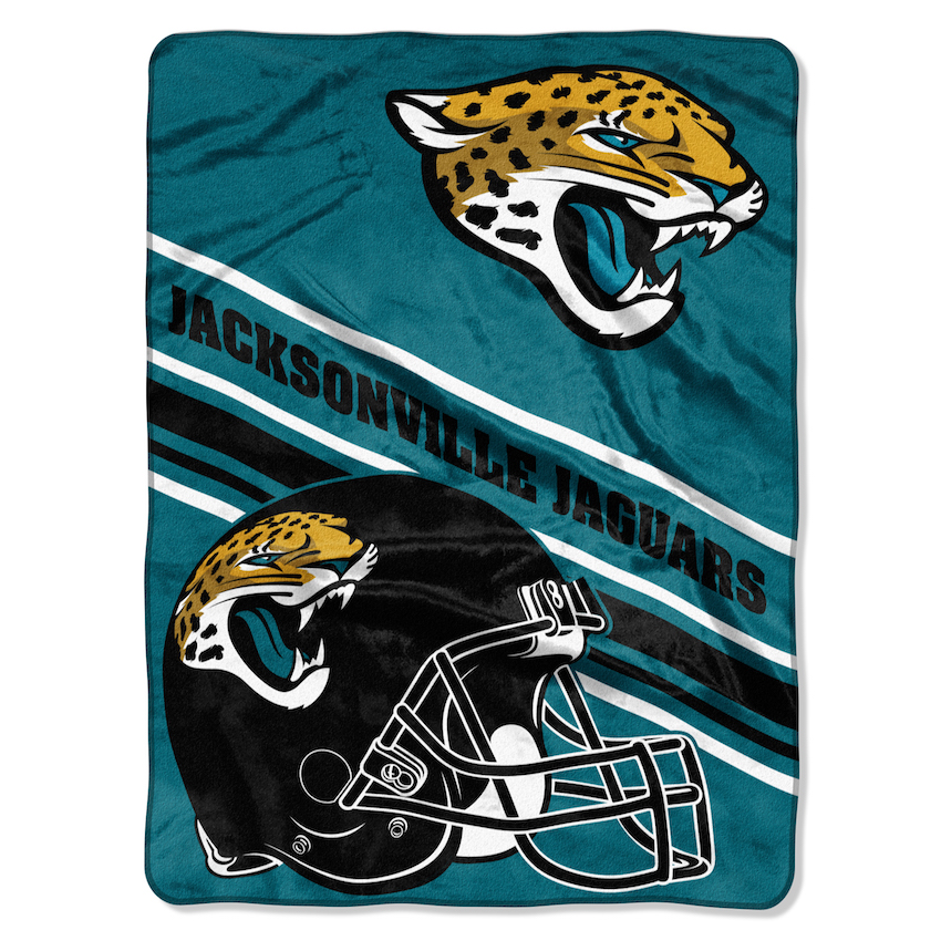 Jaguar Blanket: Jacksonville Jaguars Large Plush Fleece Raschel Blanket 60