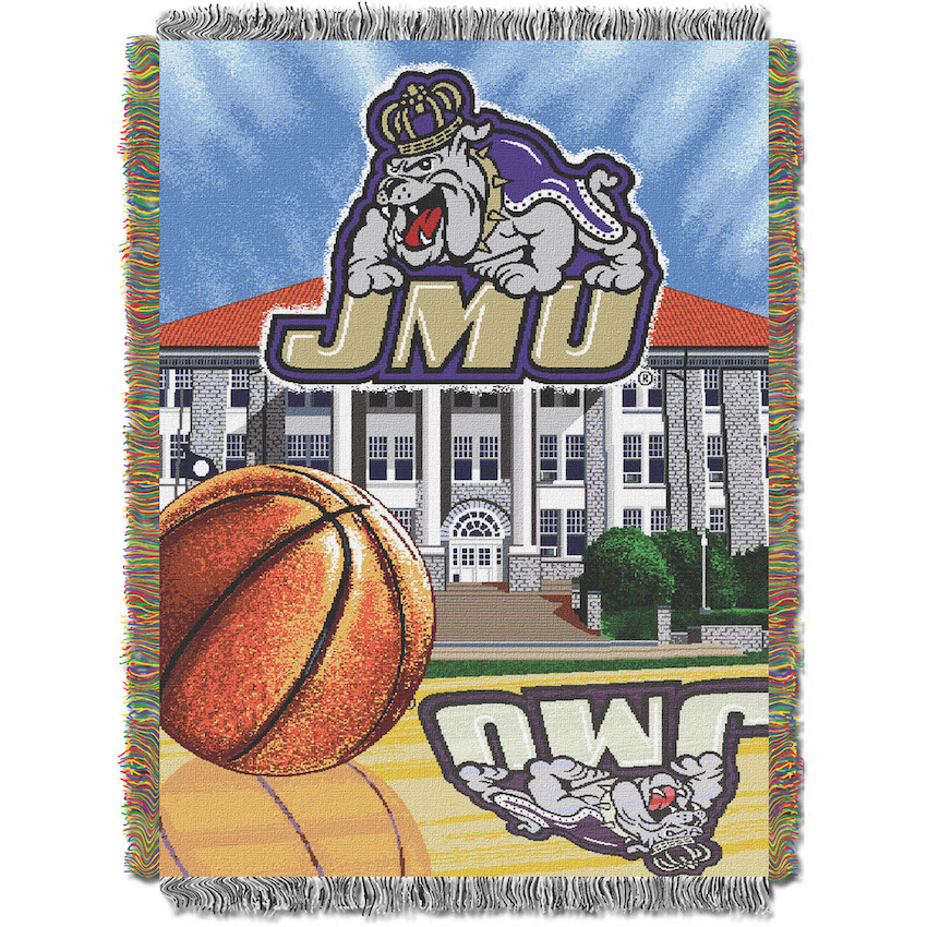 James Madison Dukes Home Field Advantage Series Tapestry Blanket 48 x 60