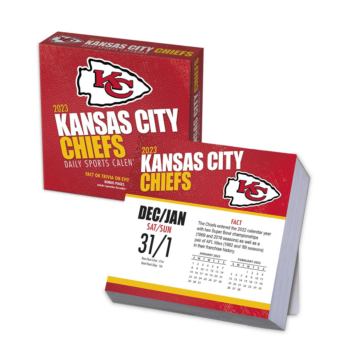 Kansas City Chiefs 2019 NFL Page-A-Day Box Calendar - Buy ...