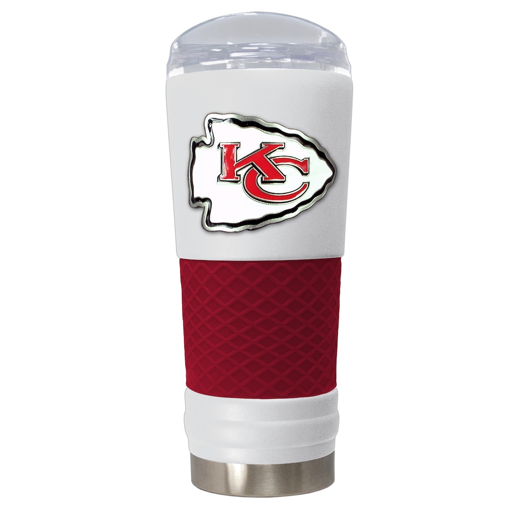 Kansas City Chiefs 24 oz DRAFT SERIES NFL Powder Coated Insulated Travel Tumbler