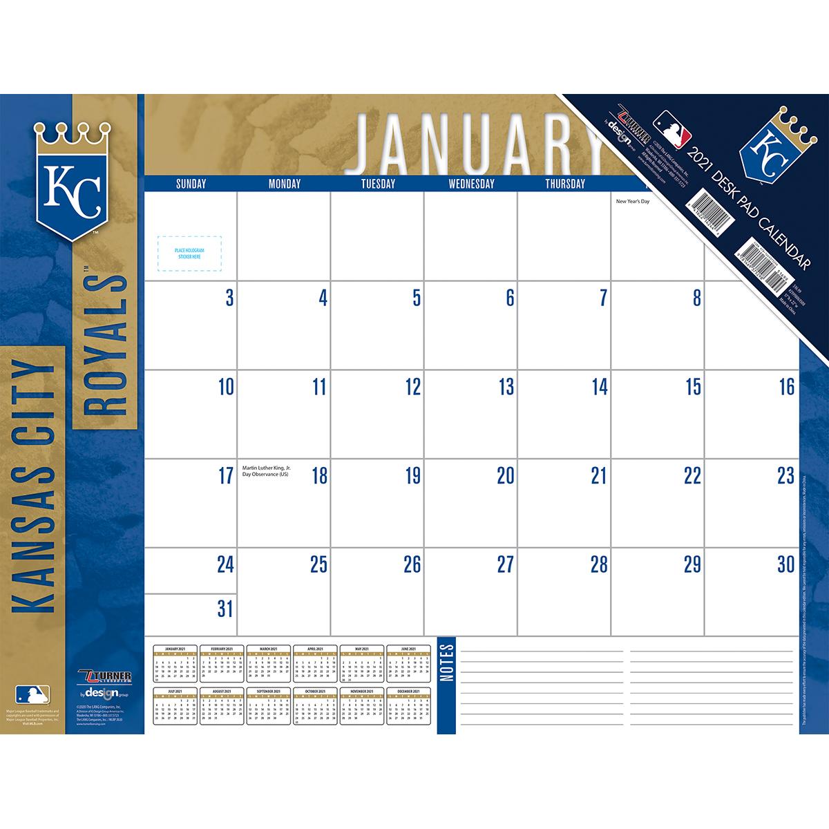 Kansas City Royals 2018 Mlb 22 X 17 Desk Calendar Buy At