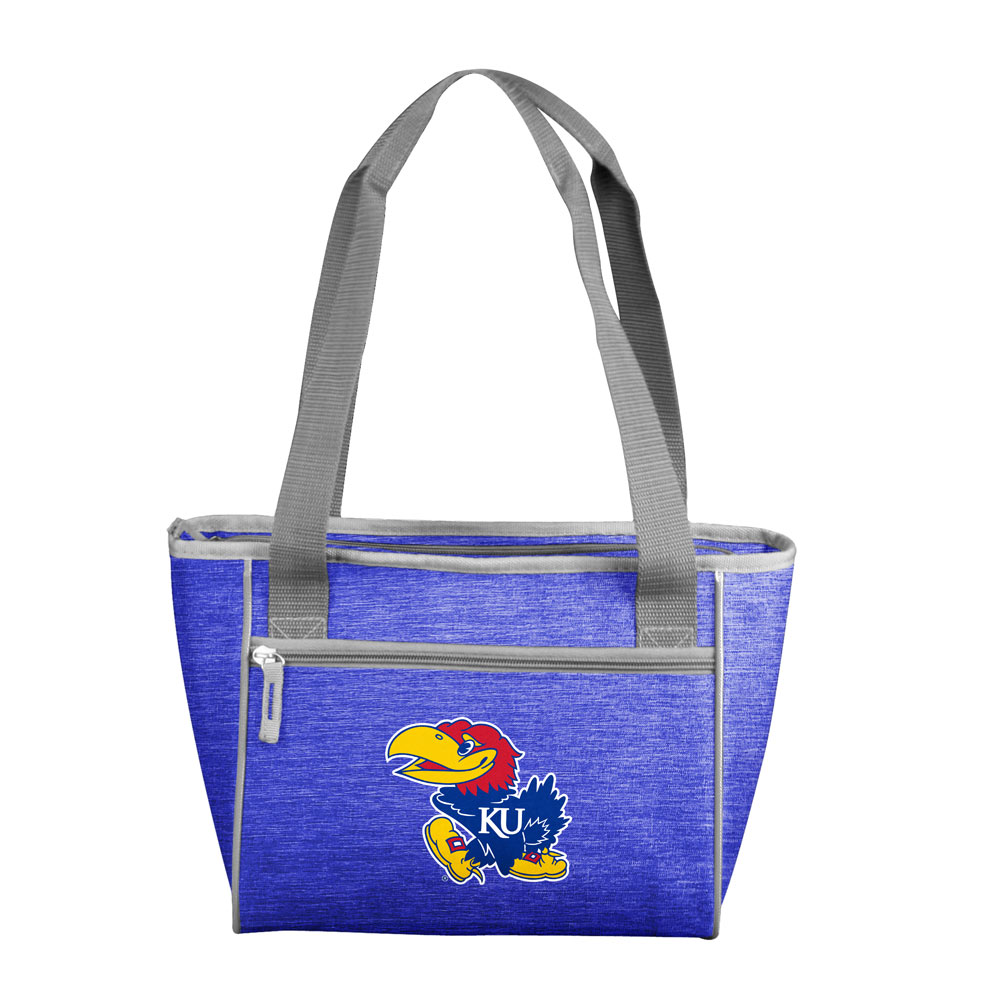 Kansas Jayhawks Crosshatch 16 Can Cooler Tote
