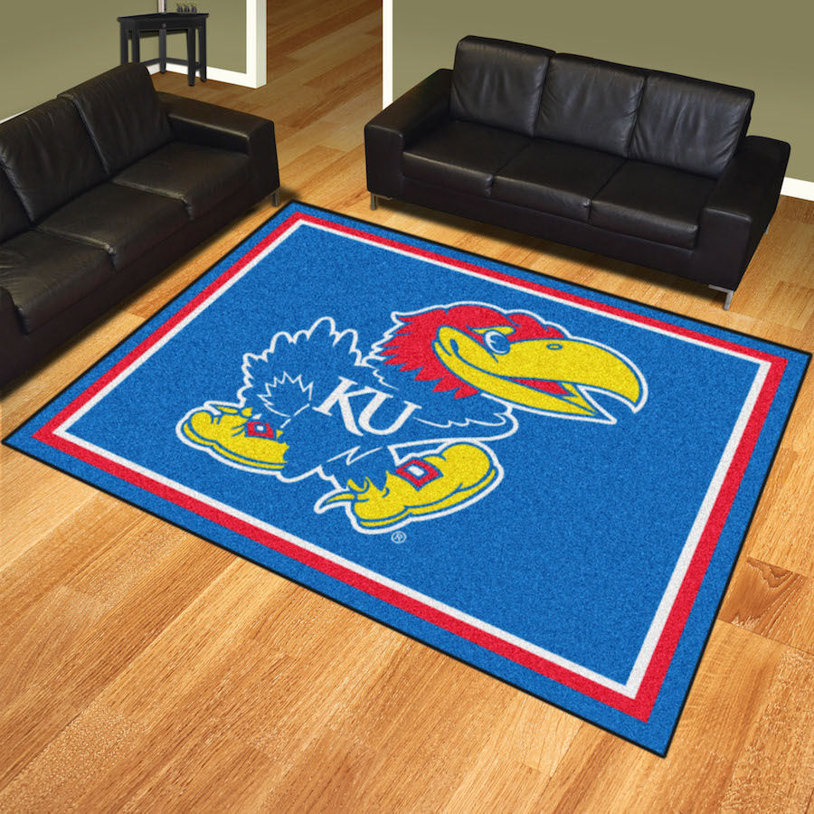Kansas Jayhawks Ultra Plush 8x10 Area Rug