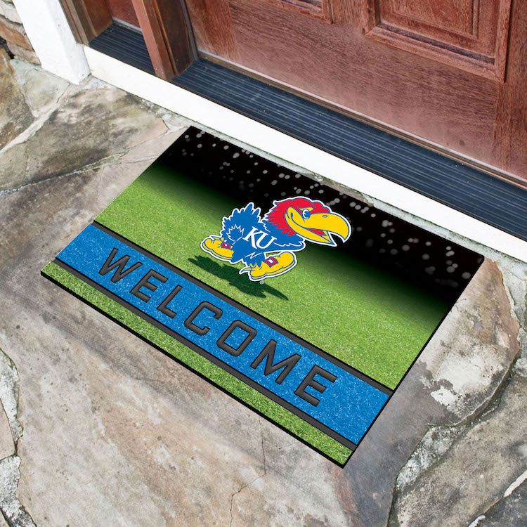 Kansas Jayhawks Recycled Crumb Rubber Door Mat