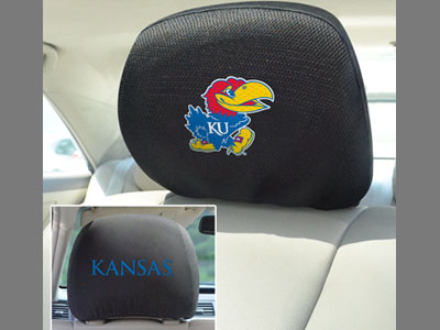 Kansas Jayhawks Head Rest Covers