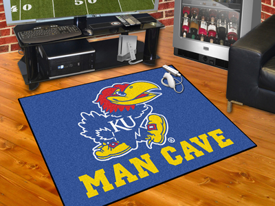 Kansas Jayhawks ALL STAR 34 x 45 MAN CAVE Floor Mat
