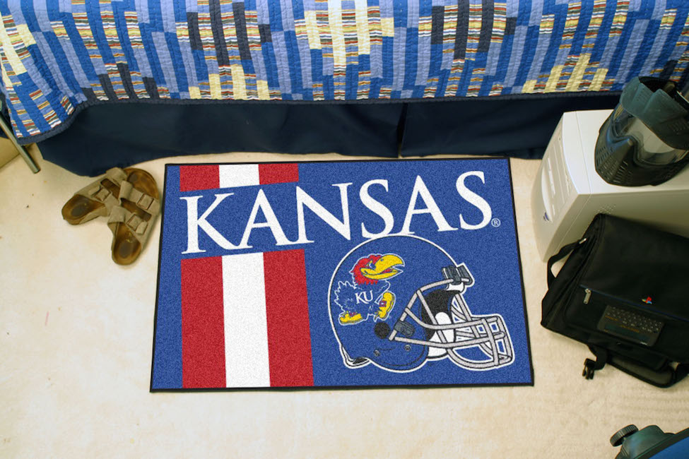 Kansas Jayhawks 20 x 30 Uniform STARTER Floor Mat