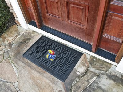 Kansas Jayhawks MEDALLION Vinyl Door Mat