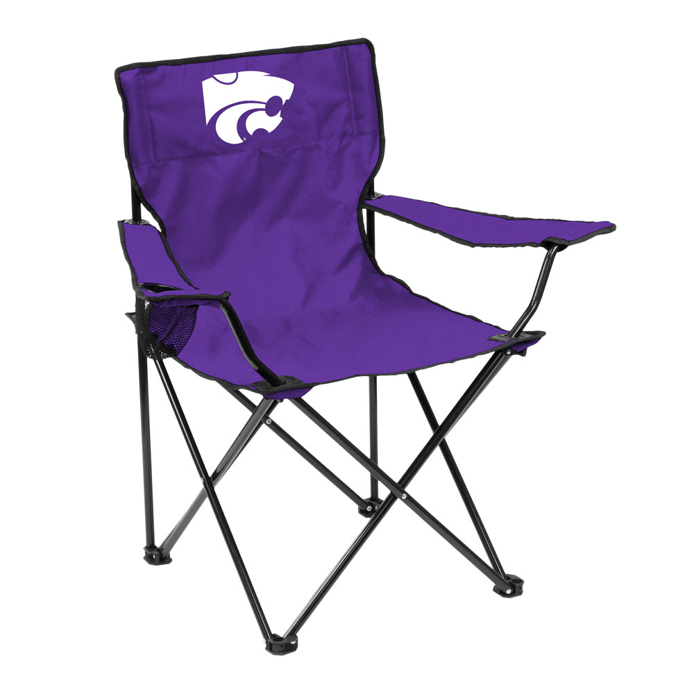 Kansas State Wildcats QUAD style logo folding camp chair
