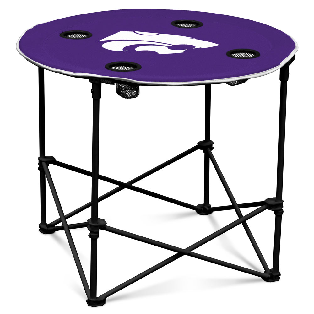 Kansas State Wildcats Round Tailgate Table