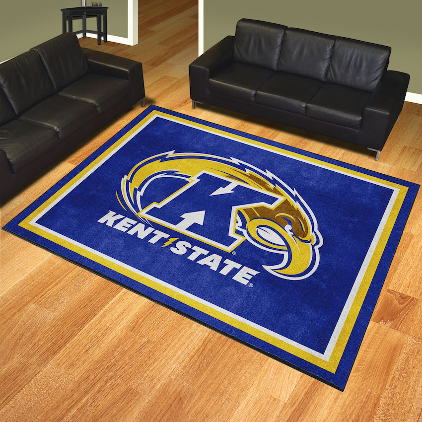 Kent State Golden Flashes Ultra Plush 8x10 Area Rug
