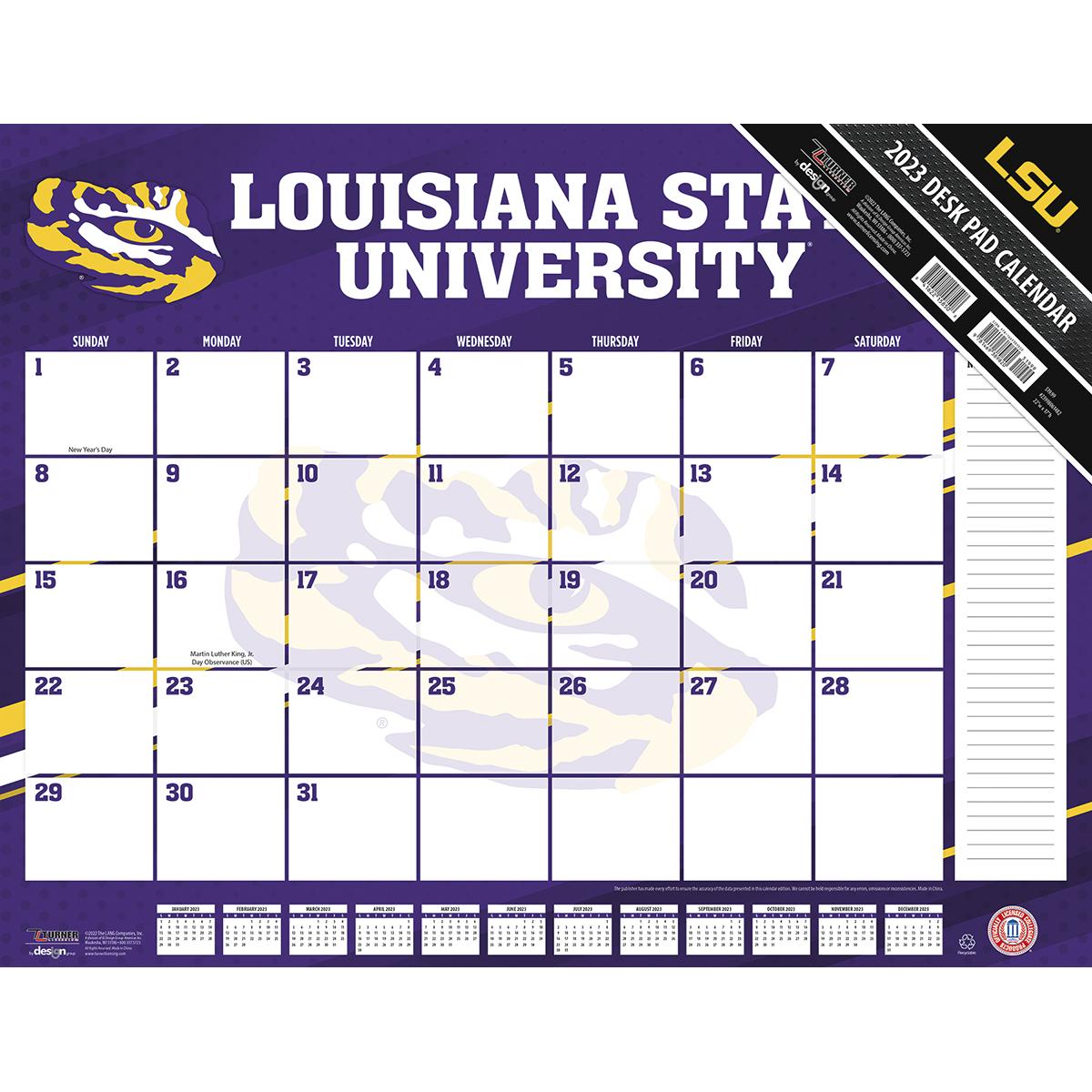 LSU Tigers 2018 NCAA 22 X 17 Desk Calendar   Buy at KHC Sports