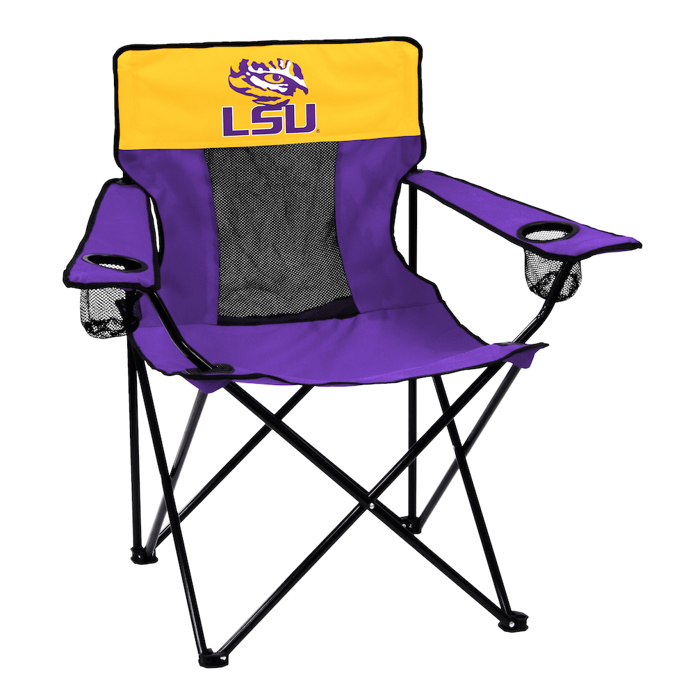 LSU Tigers ELITE logo folding camp style chair