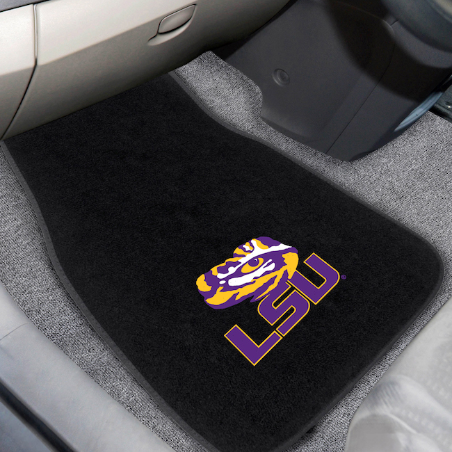 LSU Tigers Car Floor Mats 17 x 26 Embroidered Pair
