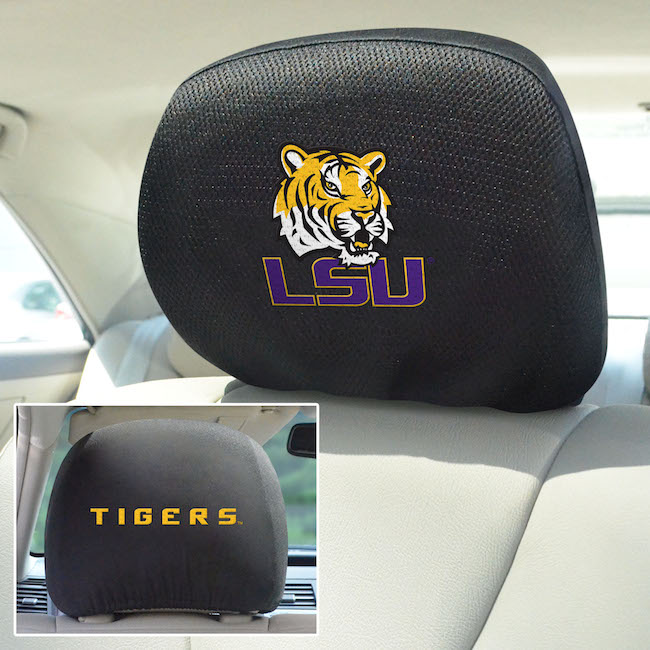LSU Tigers Head Rest Covers