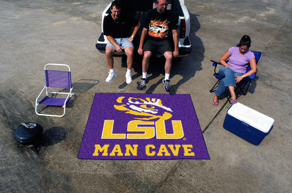 LSU Tigers MAN CAVE TAILGATER 60 x 72 Rug