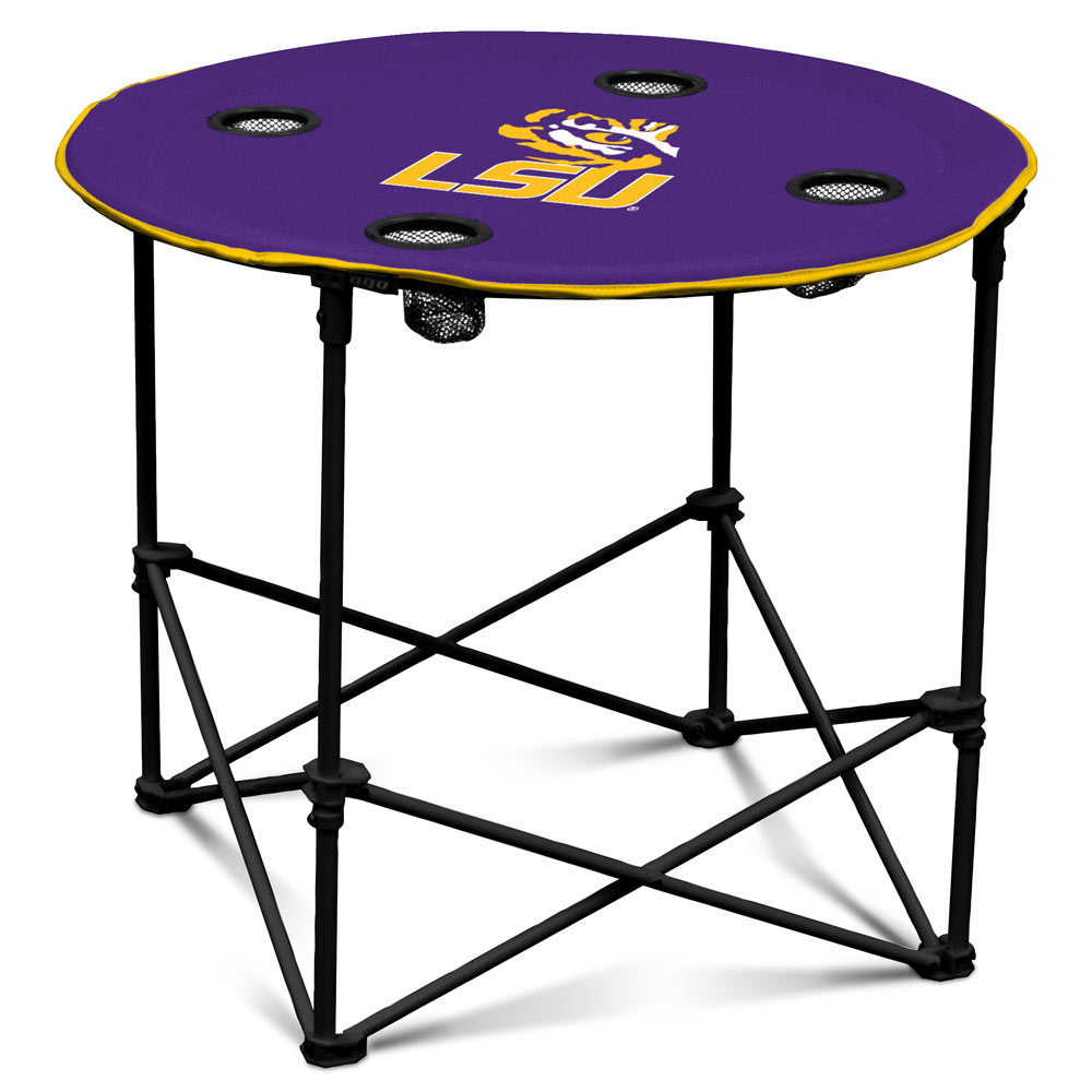 LSU Tigers Round Tailgate Table