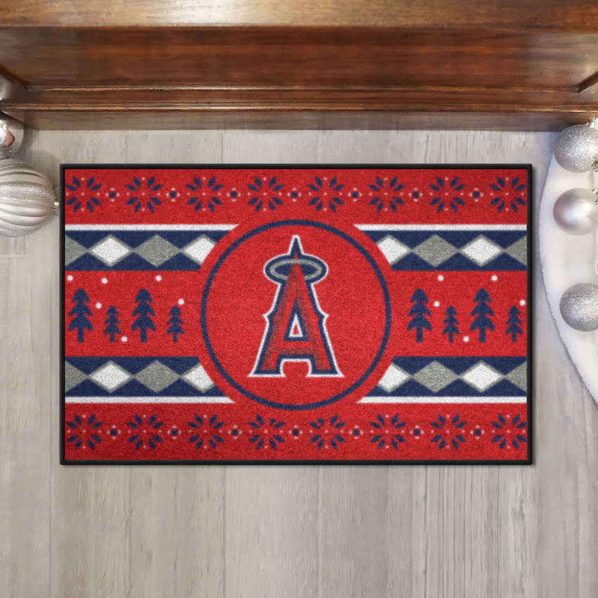 Los Angeles Angels HOLIDAY SWEATER 20 x 30 STARTER Floor Mat