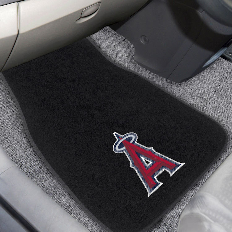 Los Angeles Angels Car Floor Mats 17 x 26 Embroidered Pair