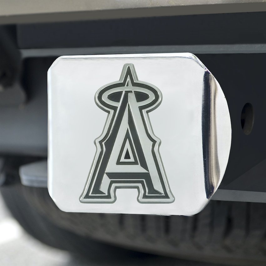 Los Angeles Angels Chrome Trailer Hitch Cover