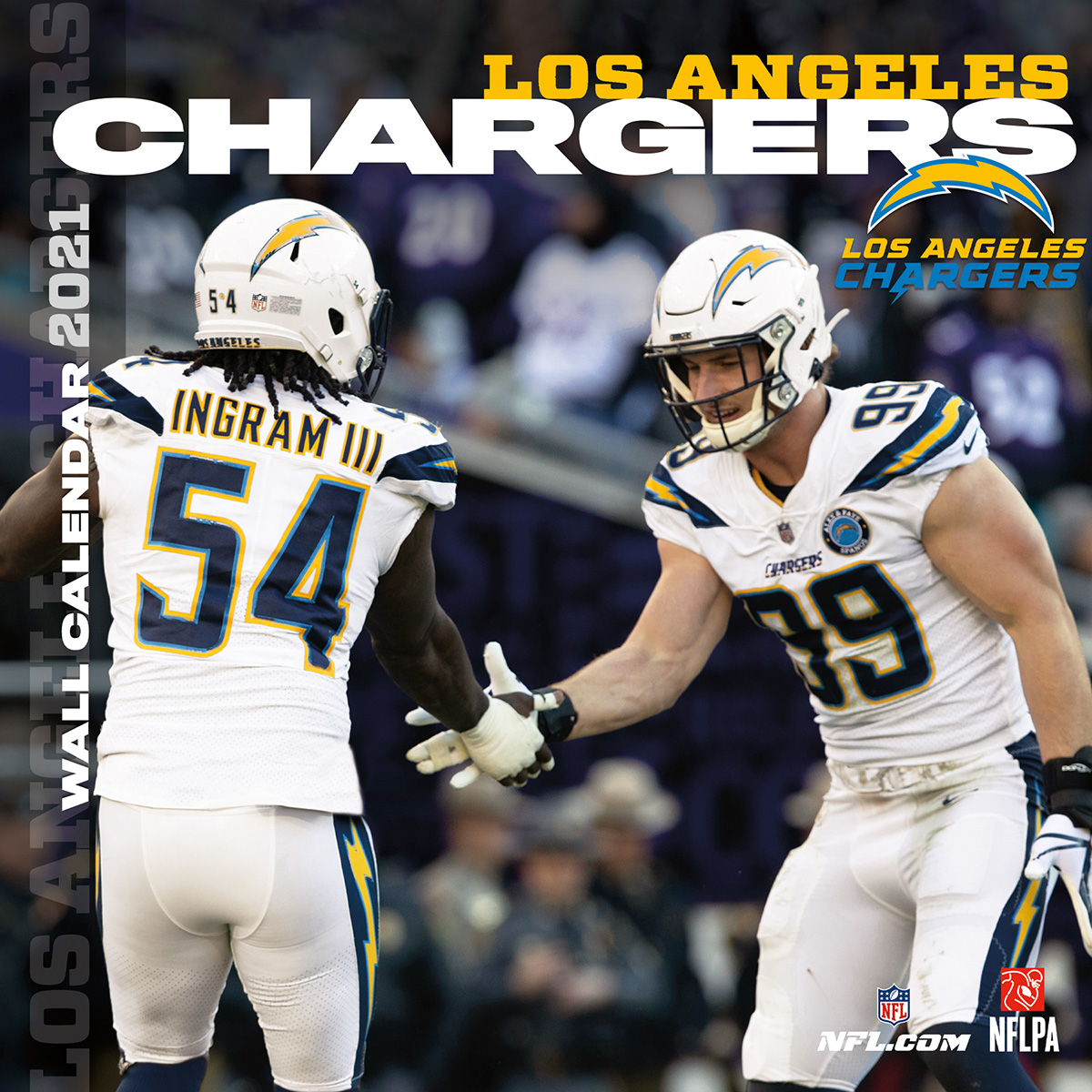 Los Angeles Chargers 2021 NFL Team Wall Calendar