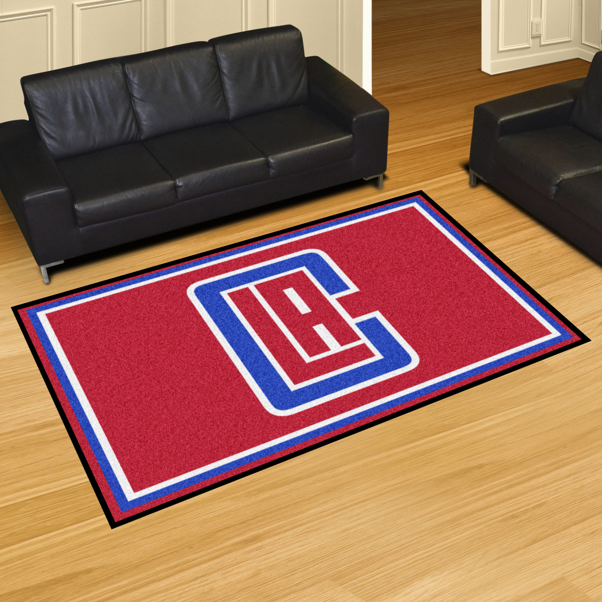 Los Angeles Clippers 5x8 Area Rug