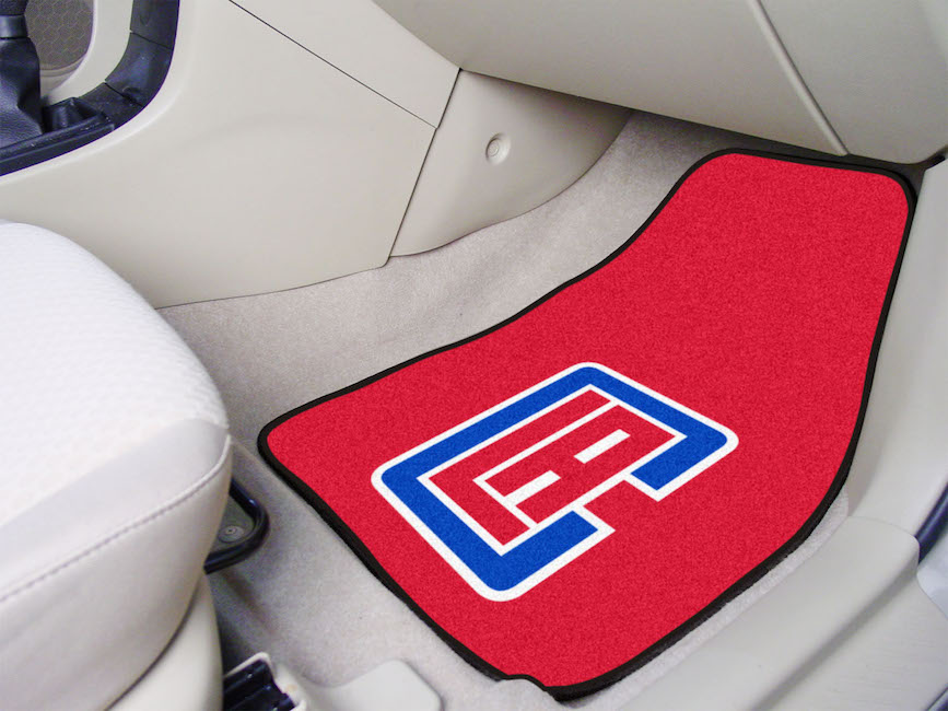 Los Angeles Clippers Car Floor Mats 18 x 27 Carpeted-Pair