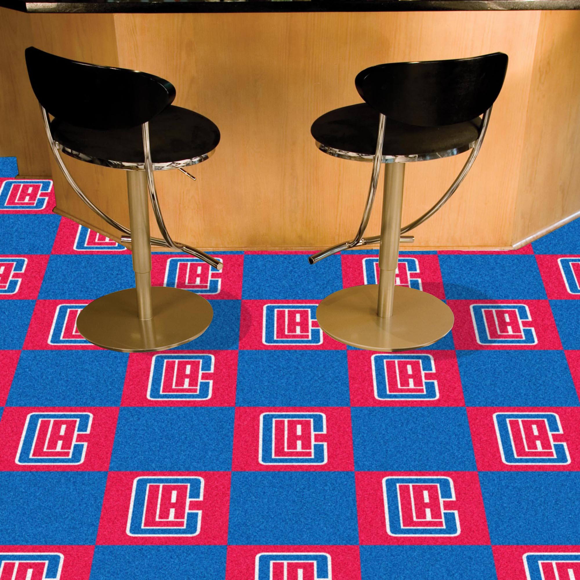 Los Angeles Clippers Carpet Tiles 18x18 in.