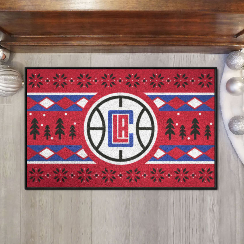 Los Angeles Clippers HOLIDAY SWEATER 20 x 30 STARTER Floor Mat