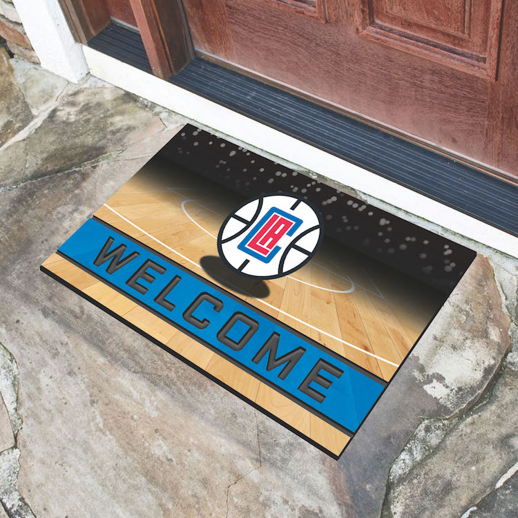 Los Angeles Clippers Recycled Crumb Rubber Door Mat