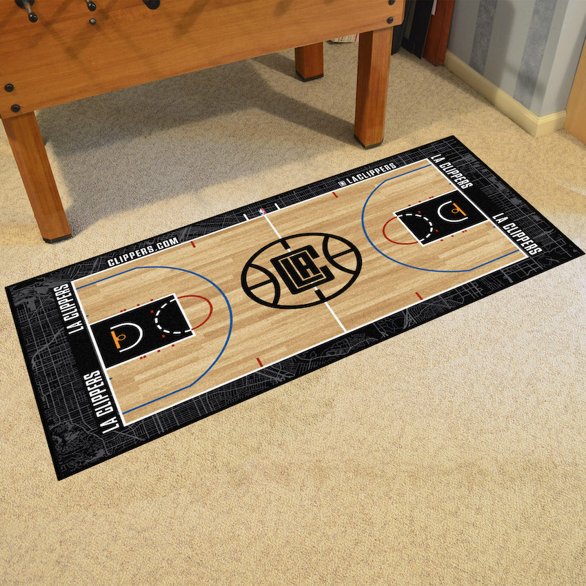 Los Angeles Clippers 30 x 54 LARGE Basketball Court Carpet Runner