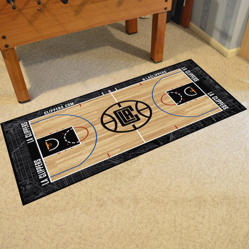 Los Angeles Clippers 24 x 44 Basketball Court Carpet Runner