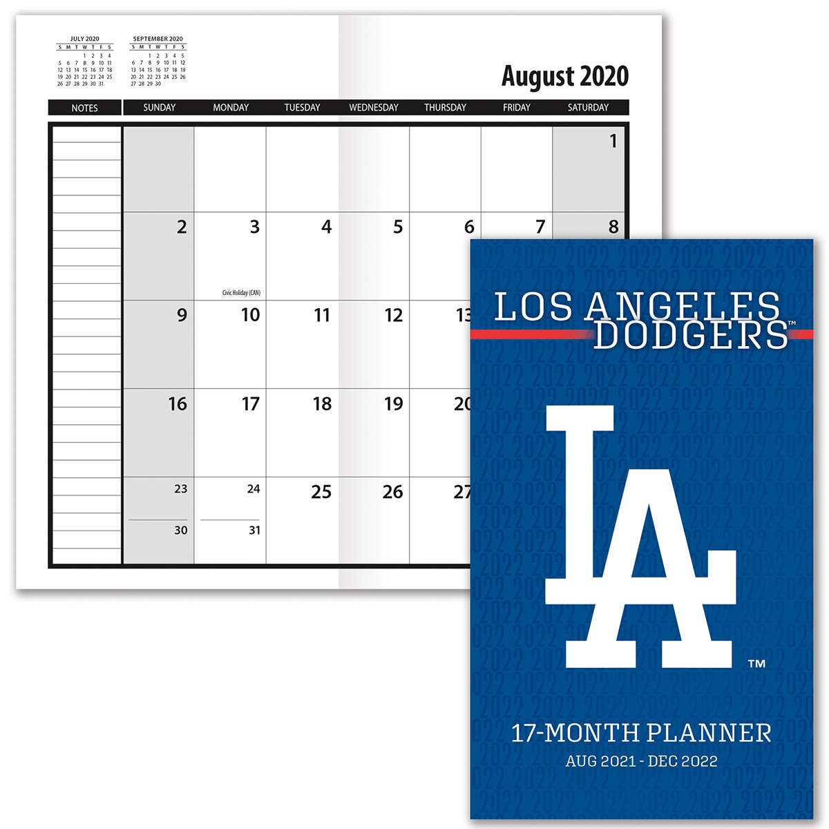 Los Angeles Dodgers 2019-20 Academic Planner