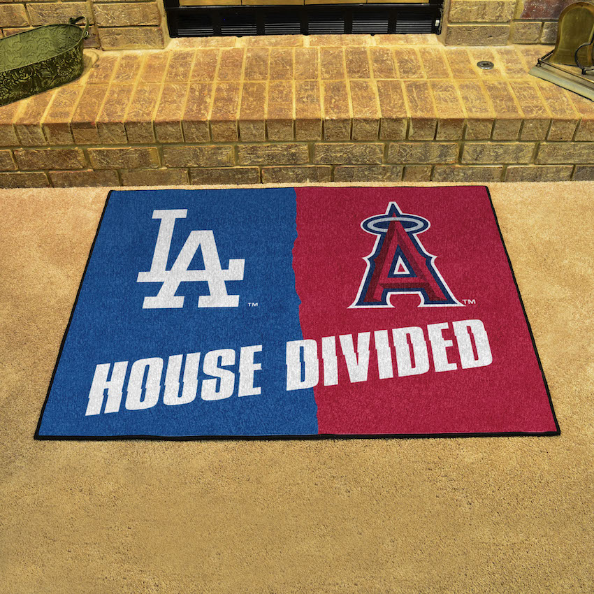 MLB House Divided Rivalry Rug Los Angeles Dodgers - Los Angeles Angels
