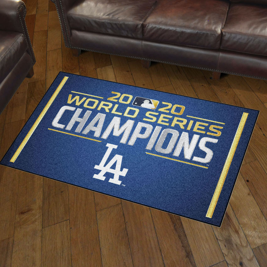 Los Angeles Dodgers 2020 World Series Champions 3x5 Area Rug