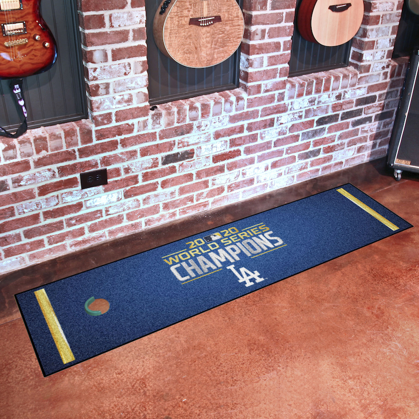 Los Angeles Dodgers 2020 World Series Champions Putting Green Mat