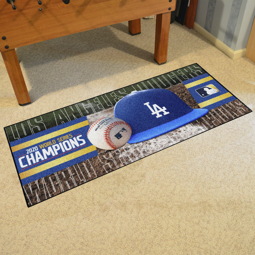 Los Angeles Dodgers 2020 World Series Champions 30 x 72 Baseball Carpet Runner Mat